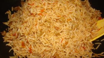 Kishmesh Palau (rice with raisin) Recipe