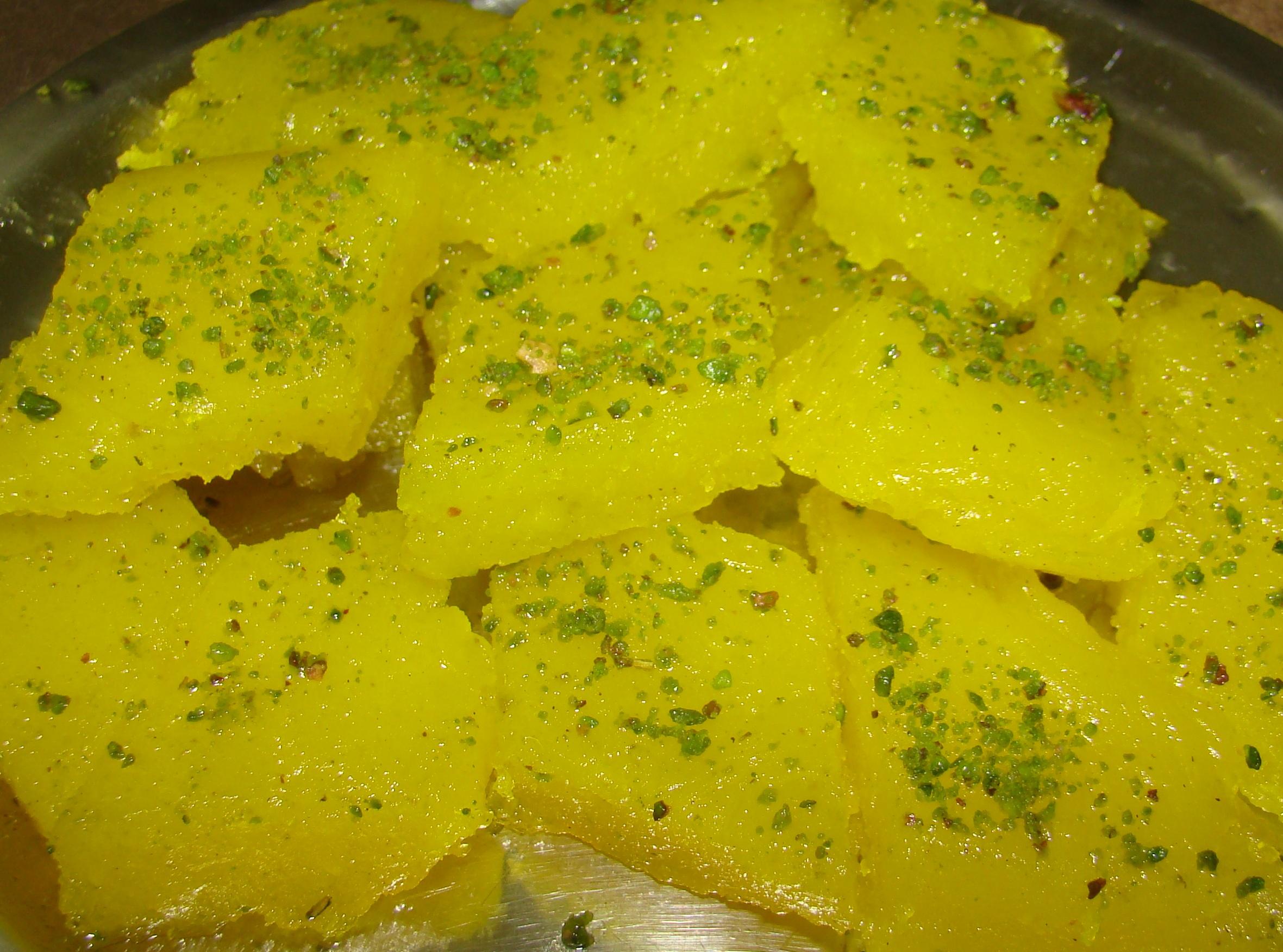 Masghati (starch and rose fudge) Recipe