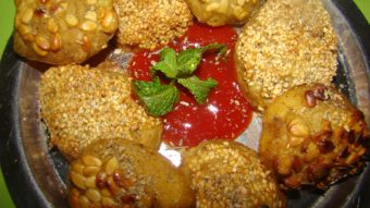 Crispy Fried Potato with Sesame & watermelon Seeds Recipe
