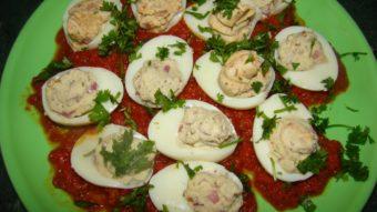Stuffed Egg with Tomato Sauce Recipe