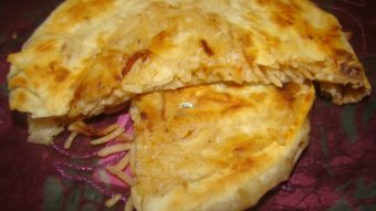 Naan Palau (Layered Rice stuffed Flat Bread) Recipe