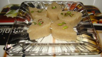 Halwa Berinj (rice halwa) Recipe