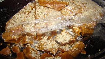 Halva Maghzi Konjed (milk & sesame candy) Recipe