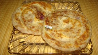 Layered Minced Meat Flat Bread Recipe