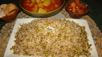 Mung Bean with Rice (Mash Palau) Recipe